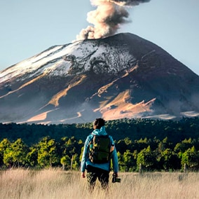 In tune with nature at the foot of Popocatepetl