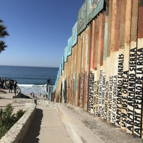 The border and the beach